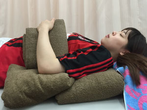 仰向けで寝る場合の体勢1